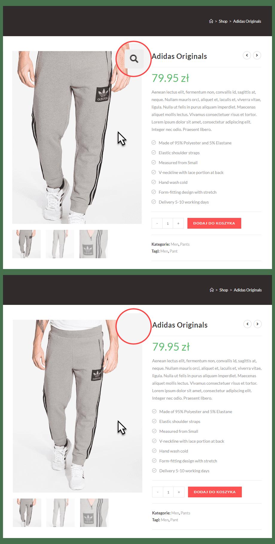 Jak wyłączyć zoom zdjęć produktu w WooCommerce