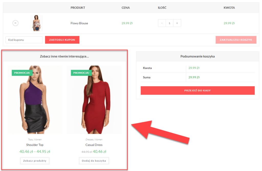 Co to jest Cross-Sell w WooCommerce, czyli gdzie są wyświetlane produkty sugerowane (powiązane) w WooCommerce