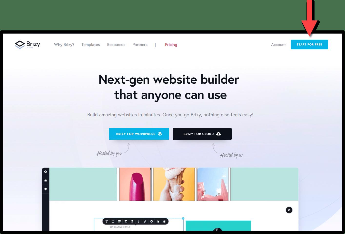 Strona główna darmowego kreatora stron internetowych