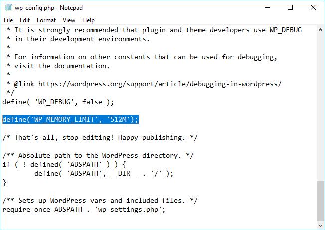 Edycja pliku wp-config w zwykłym notatniku za pomocą programu FileZilla