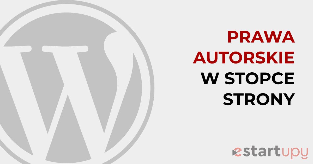 Jak dodać lub edytować informację o prawach autorskich w stopce strony WordPress krok po kroku
