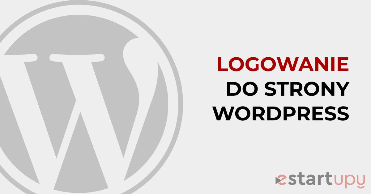 Logowanie do strony WordPress