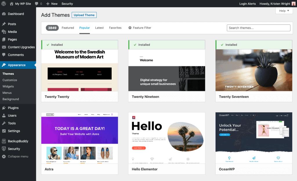 Katalog motywów WordPress