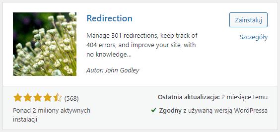 Wtyczka do tworzenia przekierowań 301 w WordPress